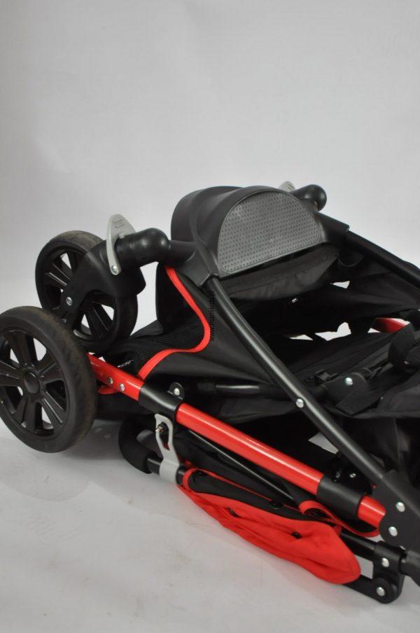 Wózek, spacerówka, fisher price, czerwona, czarna,