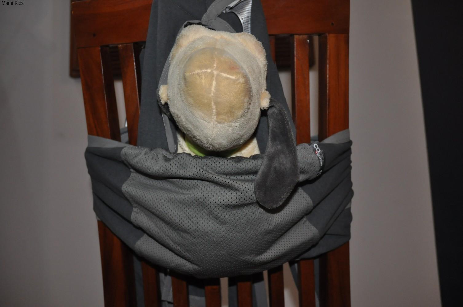 nosidełko, chusta. caboo, carrier, dla dziecka, dla mamy, do noszenia, nosidło, nosidełko, szare, nowe, materiałdziecko, podróż, kółkowa, wygodna2