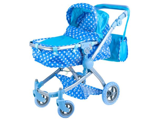wózek, dla lalek, gondola, spacerówka, wózeczek, gwiazdki