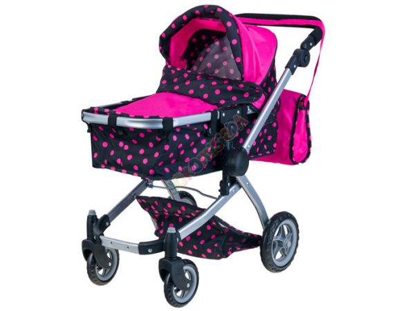 wózek, dla lalek, gondola, spacerówka, wózeczek, gwiazdki, ciemny