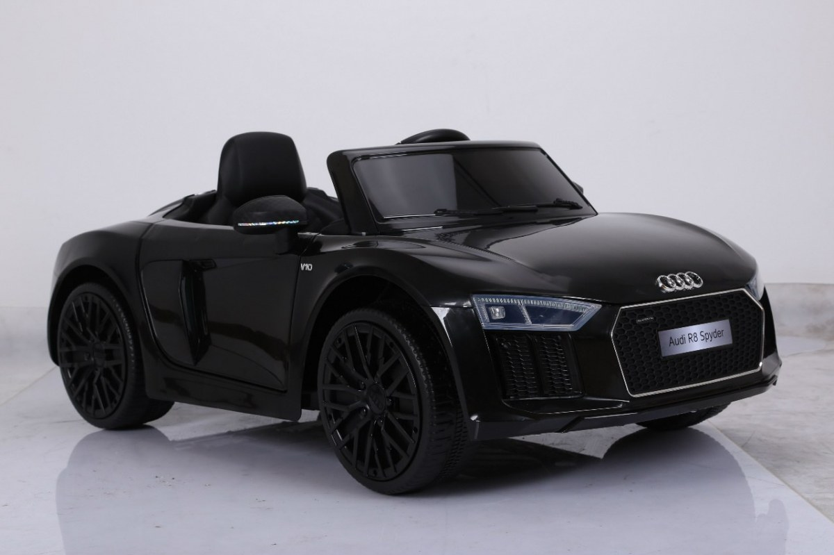 pojazd audi r8 spyder rs eva 2 4g czarny mamikids. Black Bedroom Furniture Sets. Home Design Ideas