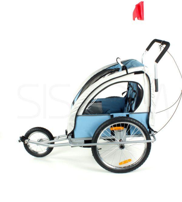 Przyczepka, duże koła, rowerowa, rower, jogger, biegowy, biegowa, wózek, spacerówka, do roweru, czerwona, niebieska, 21