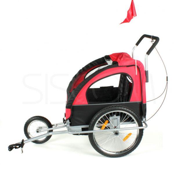 Przyczepka, duże koła, rowerowa, rower, jogger, biegowy, biegowa, wózek, spacerówka, do roweru, czerwona, niebieska, 22