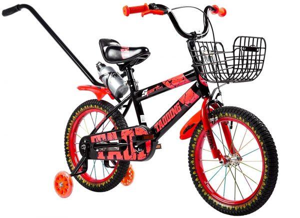 ROWEREK DZIECIĘCY 16 CALI BMX CROSS + BIDON, rower, rowerek, czerwony, ognie,