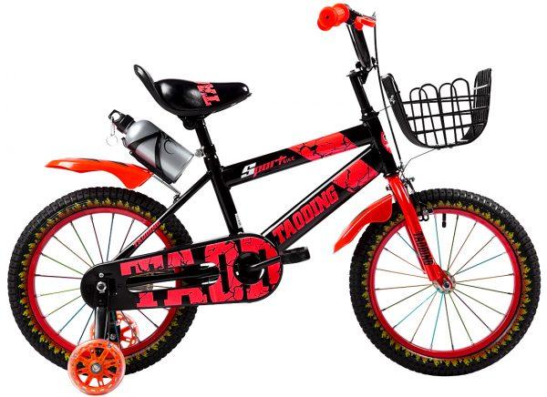 ROWEREK DZIECIĘCY 16 CALI BMX CROSS + BIDON, rower, rowerek, czerwony, ognie, , z