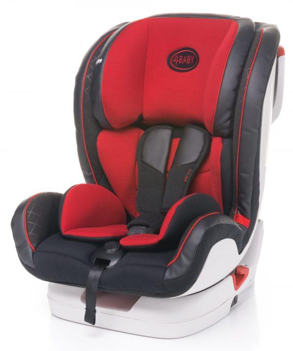 4baby, baby, fly, fi, fotelik, samochodowy, czerwony