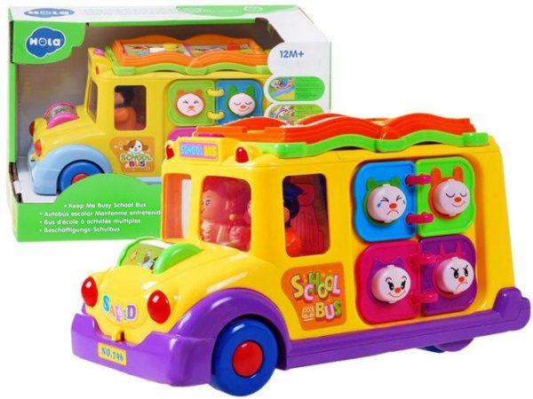 Autko, Autobus, Wesoły, Interaktywny, Kolorowy