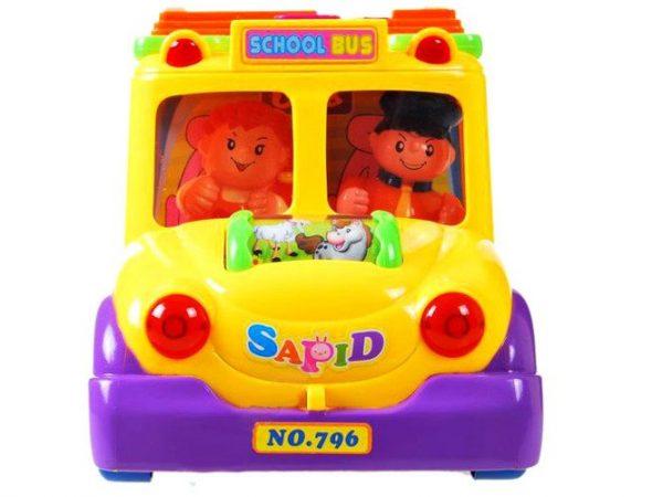 Autko, Autobus, Wesoły, Interaktywny, Kolorowy, zwierzęta,