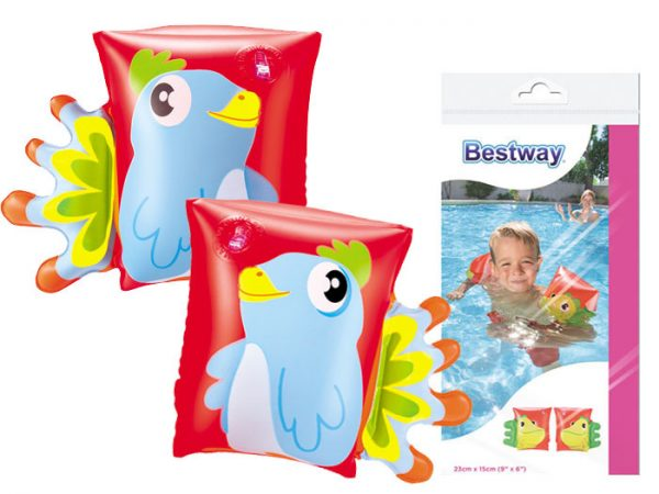 rękawki, bestway, dmuchane, basen, do wody, papuga