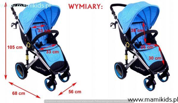 wózek, spacerówka, summer baby, dynamic, niebieski