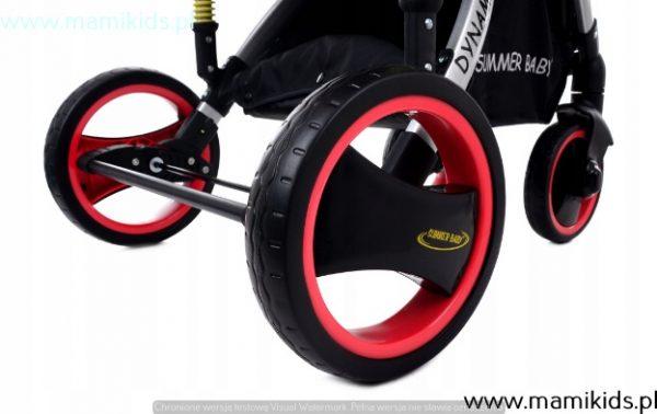 wózek, spacerówka, summer baby, dynamic, różowy, koła