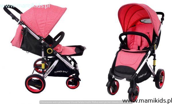 wózek, spacerówka, summer baby, dynamic, różowy, nowy