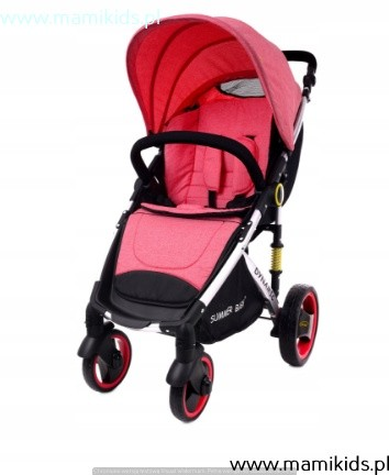 wózek, spacerówka, summer baby, dynamic, różowy, pałąk