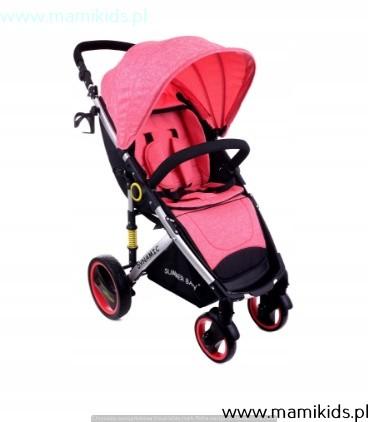 wózek, spacerówka, summer baby, dynamic, różowy, pokrowiec