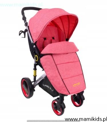 wózek, spacerówka, summer baby, dynamic, różowy
