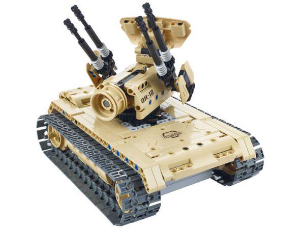 klocki, jak lego, czołg, sterowany, rc, na pilota, technic