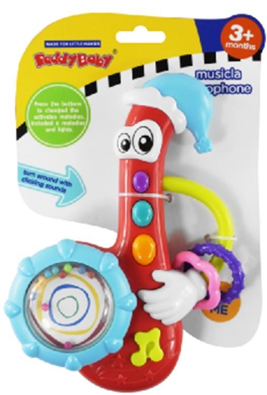 zabawka, grająca, saksofon, muziczna, interaktywna