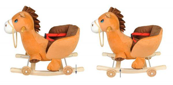 konik, bujak, na biegunach, koń, brązowy, 2w1