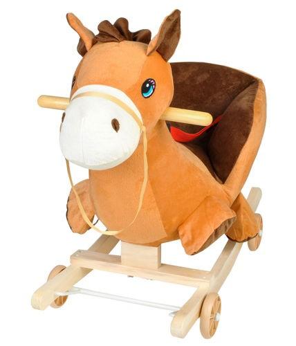 konik, bujak, na biegunach, koń, brązowy