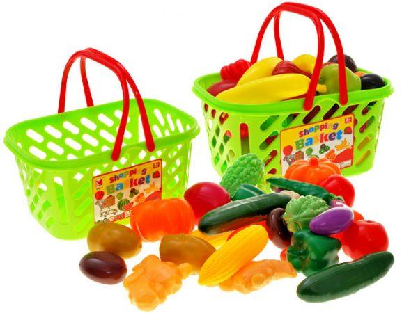 Kolorowy-koszyk-OWOCE-WARZYWA-na-zakupy, kuchnia, zestaw, do kuchni