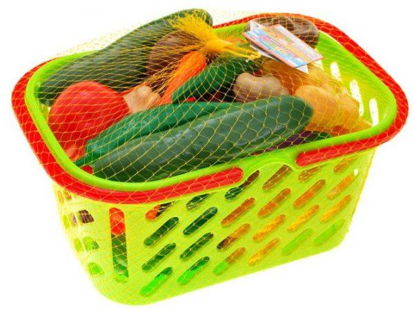 Kolorowy-koszyk-OWOCE-WARZYWA-na-zakupy, kuchnia, zestaw, do kuchni, nowe