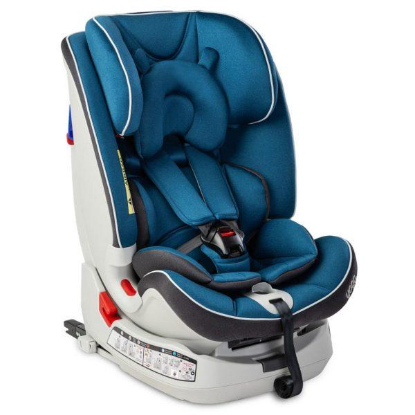 caratero, yoga, fotelik, dla dziecka, samochodowy, 0-25, navy