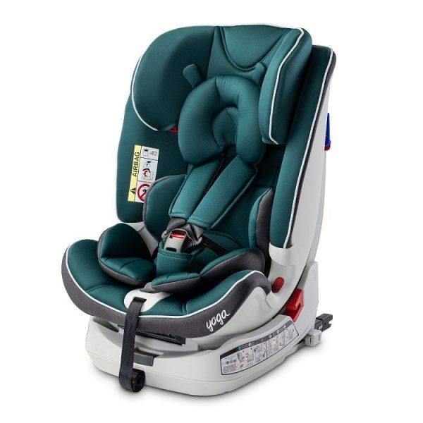 caratero, yoga, fotelik, dla dziecka, samochodowy, 0-25, navy, joga, isofix, green