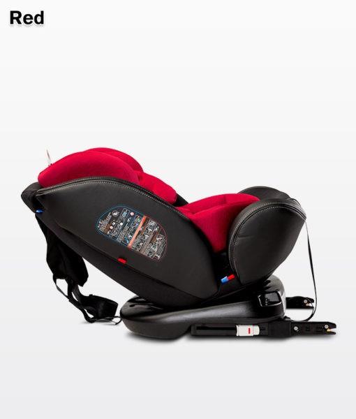 fotelik, samochodowy, caratero, mundo, red, 0-36 kg, isofix