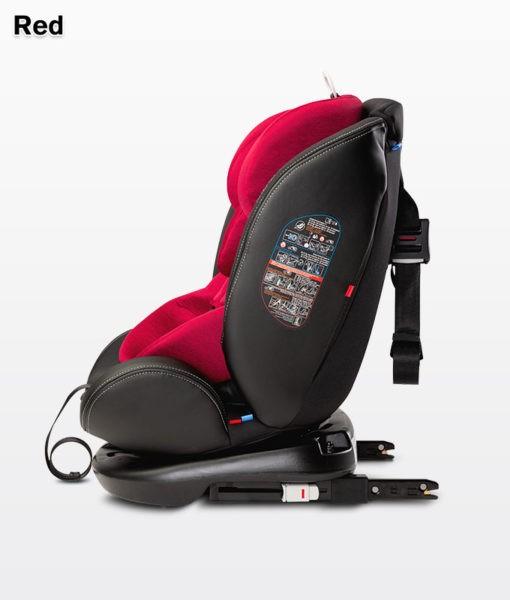fotelik, samochodowy, caratero, mundo, red, 0-36 kg