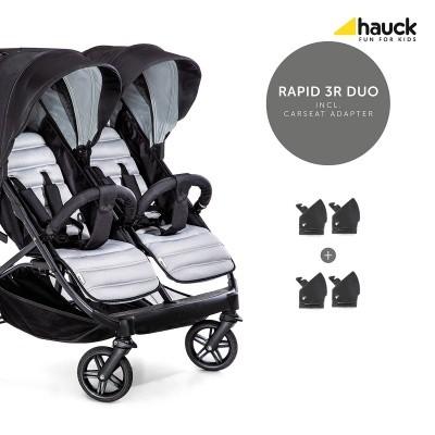 hauck-wozek-blizniaczy-rapid-3r-duo-silver-charcoal, podwójny