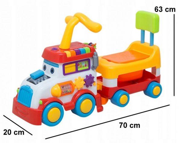 jeździk, samochód, pojazd, pchacz, ciuchcia, pociąg, 2w1, nocnik, wymiary