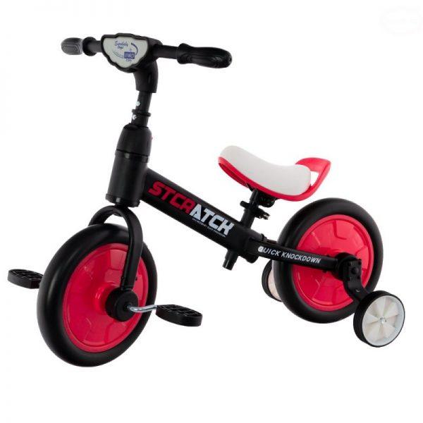 rowerek, dla dziecka, 12 cali, biegowy, na pedały, kółka boczne, różowy