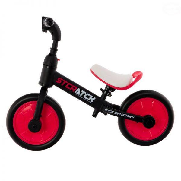 rowerek, dla dziecka, 12 cali, biegowy, na pedały, kółka boczne, różowy,