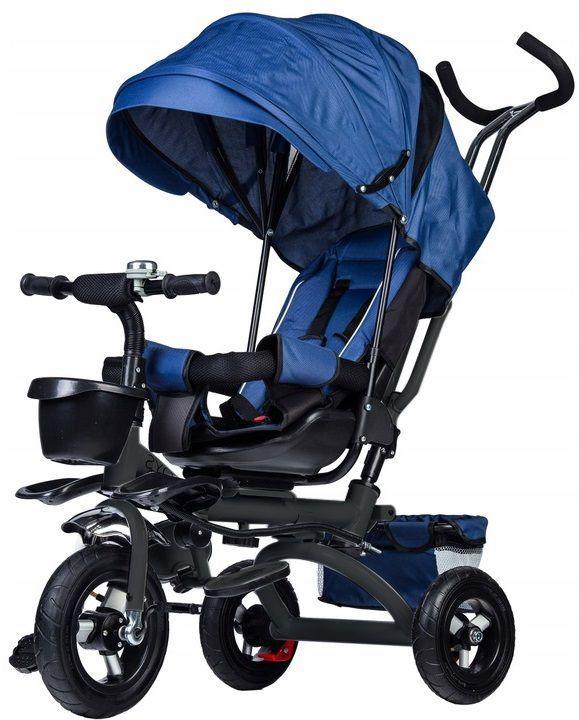 rowerek, trójkołowy, dla dziecka, rower, niebieski, koła, daszek