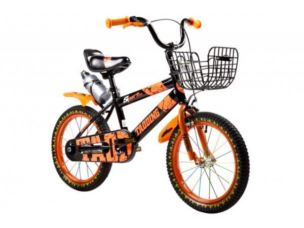 ROWEREK DZIECIĘCY 16 CALI BMX CROSS + BIDON, rower, rowerek, pomarańczowy, ognie, nowy