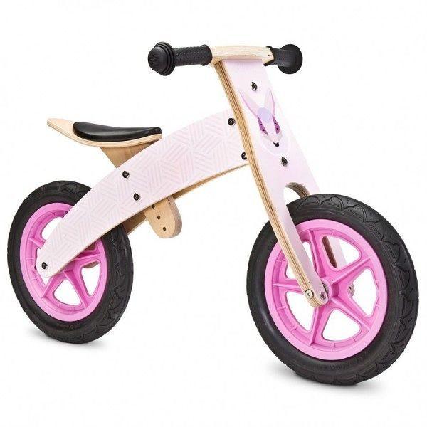 drewniany, rowerek, rower, biegowy, różowy, woody
