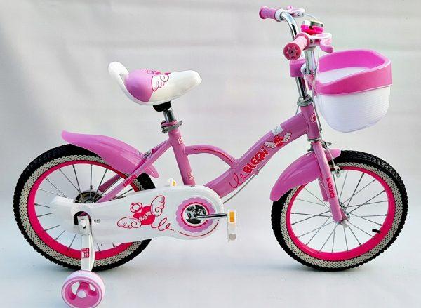rower, rowerek, 16 cali, dla dziewczynki, z koszyczkiem, nowy, foletowy