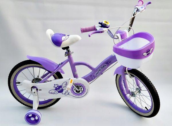 rower, rowerek, 16 cali, dla dziewczynki, z koszyczkiem, nowy, foletowy, różowy,
