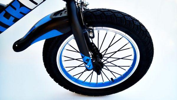 rower, rowerek, dla chłopca, 16 cali, niebieski, 16, z koszyczkiem, amortyzowany, 1