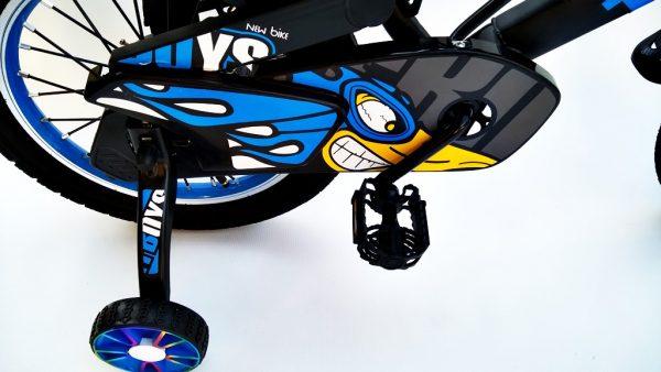 rower, rowerek, dla chłopca, 16 cali, niebieski, 16, z koszyczkiem, amortyzowany, 2