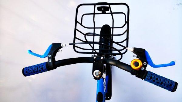 rower, rowerek, dla chłopca, 16 cali, niebieski, 16, z koszyczkiem, amortyzowany, 3