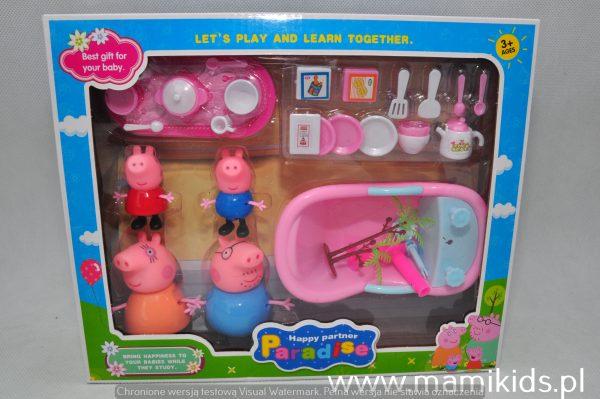 świnka Peppa Zestaw 4 Figurki Akcesoria