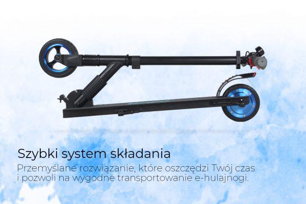 hulajnoga elektryczna frugal Twist_4_system_składania