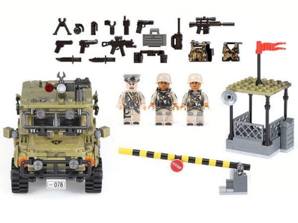 Techniczne-KLOCKI-WOJSKO-auto-wartownia, żołnierze, jednostka