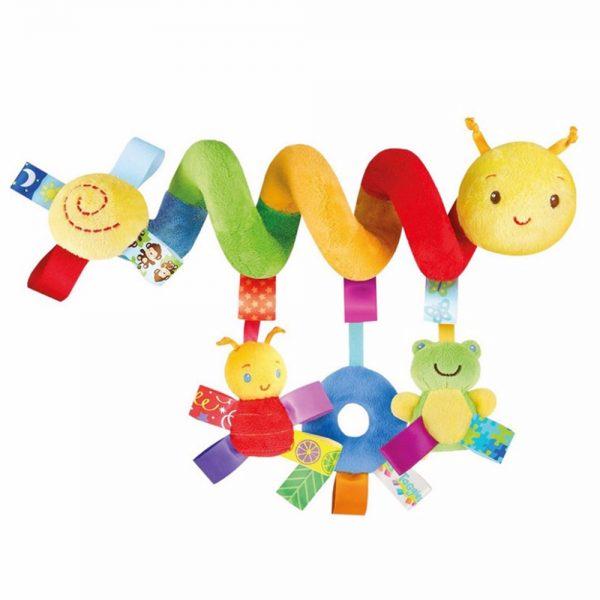 spiralka, sprężynka, do wózka, gąsiennica, do spacerówki, do łóżeczka, kolorowa,