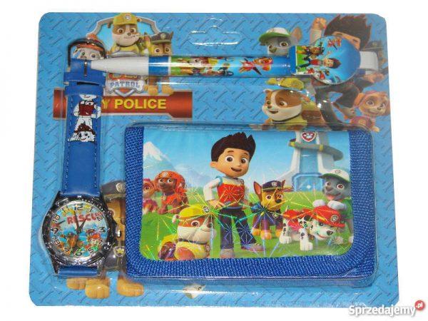 psi-patrol-zegarek-portfel-dlugopis, dla dziecka