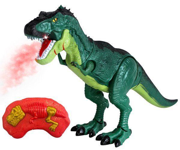 Dinozaur-zdalnie-sterowany-ziejacy-ogniem, sterowany