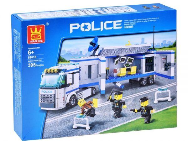 klocki, policja, ciężarówka, tir, akcja, jak lego