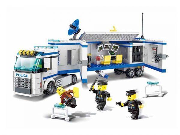 klocki, policja, ciężarówka, tir, akcja, jak lego,