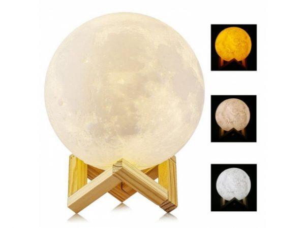 lampka, nocna, księżyc, 3d